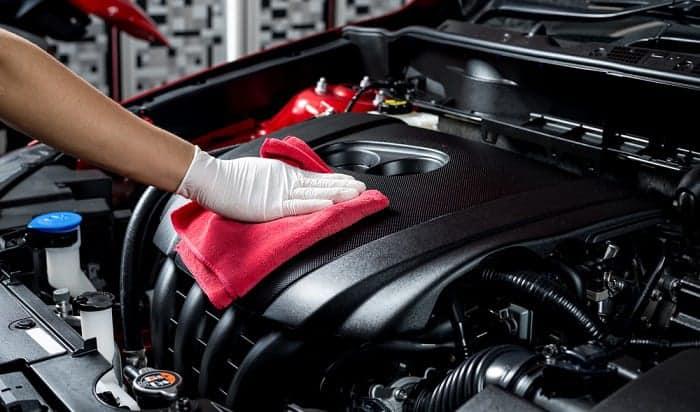 clean-car-engine-at-car-wash