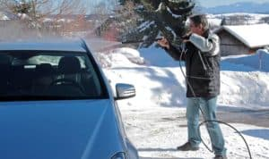 how cold is too cold to wash your car