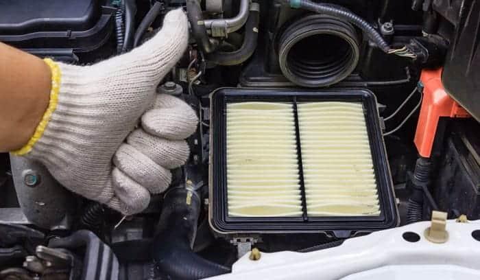 how to clean a car air filter