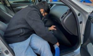 how to clean a flooded car carpet