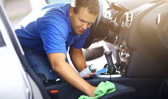how to clean interior of car with household products
