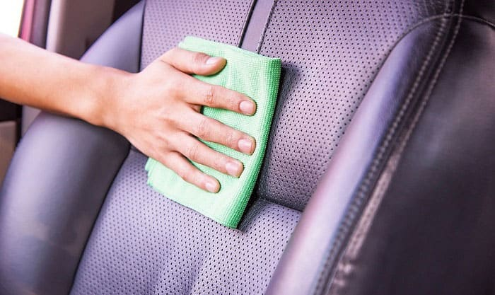 how to clean perforated leather car seats